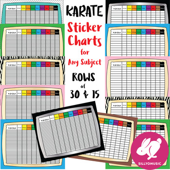 Karate Charts for any Subject