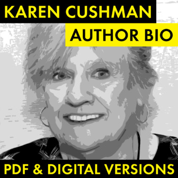Karen Cushman Author Study Worksheet, Easy Biography Activity, CCSS