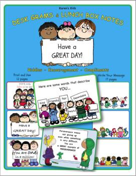 Karen's Kids Lunchbox Notes and Desk Grams
