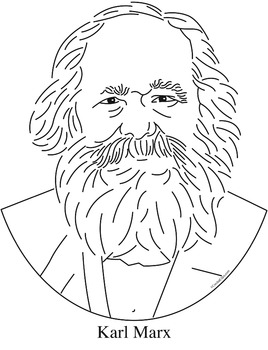 Karl Marx Clip Art, Coloring Page, or Mini-Poster