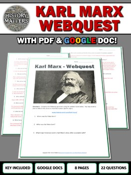 Karl Marx - Webquest with Key (Google Docs Included)