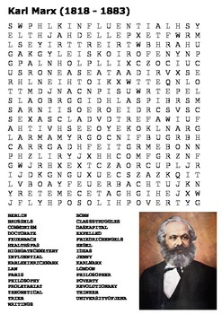 Karl Marx Word Search