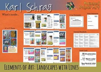 Art History Lessons: Karl Schrag Landscapes with Lines