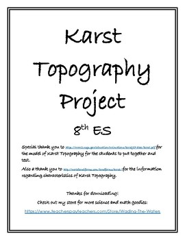 Karst Topography Research Project