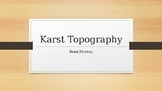 Karst Topography power point with free student notes page