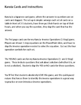 Karuta Inverse Operation Cards