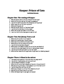 Kaspar: Prince of Cats chapter by chapter questions