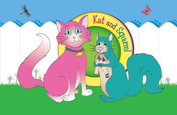 Kat and Squirrel Bulletin Board Art