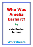 "Kate Boehm Jerome ""Who Was Amelia Earhart?"" worksheets"