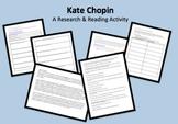 Kate Chopin Mini Unit w/Scavenger Hunt Bio, Timeline Activ