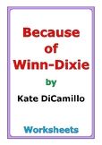 "Kate DiCamillo ""Because of Winn-Dixie"" worksheets"