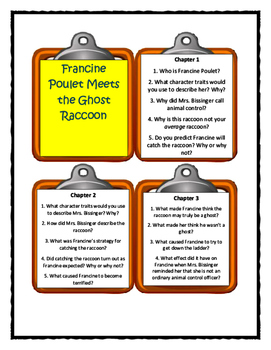 Kate DiCamillo FRANCINE POULET MEETS THE GHOST RACCOON - Discussion Cards