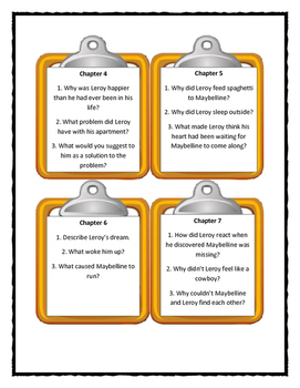Kate DiCamillo LEROY NINKER SADDLES UP - Discussion Cards
