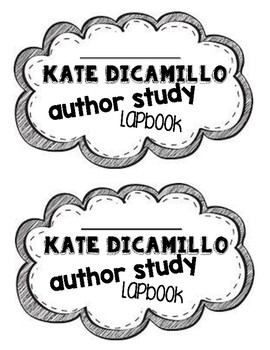 Kate DiCamillo Lapbook Cover Printables