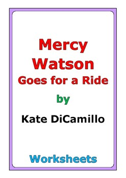 """Kate DiCamillo """"Mercy Watson Goes for a Ride"""" worksheets"""