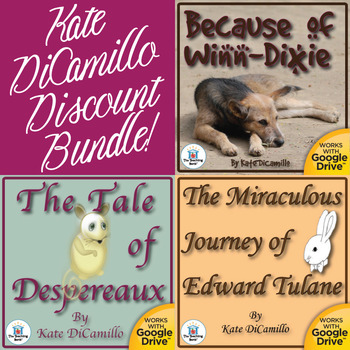 Kate DiCamillo Novel Study Bundle CD