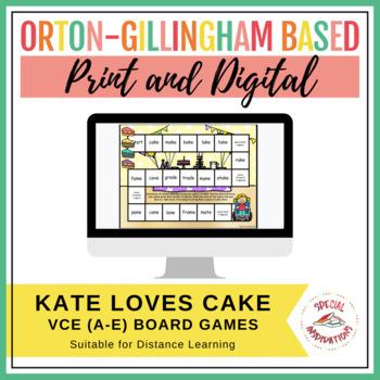 Kate Loves Cake! (a Vce (a-e) board game) Orton-Gillingham Inspired