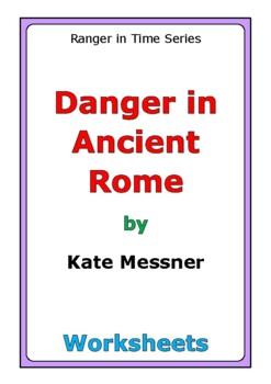"Kate Messner ""Danger in Ancient Rome"" worksheets"