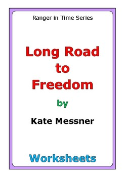 """Kate Messner """"Long Road to Freedom"""" worksheets"""