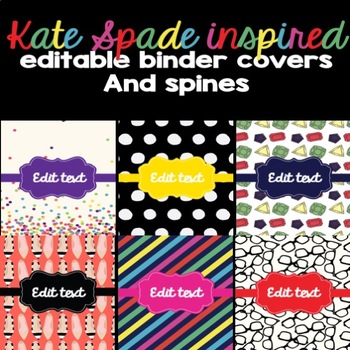 Kate Spade Inspired Binder Covers