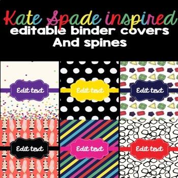 Kate Spade Inspired Binder Covers