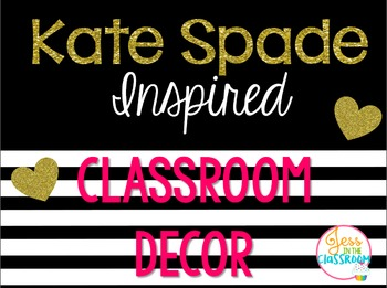 Kate Spade Inspired Classroom Decor
