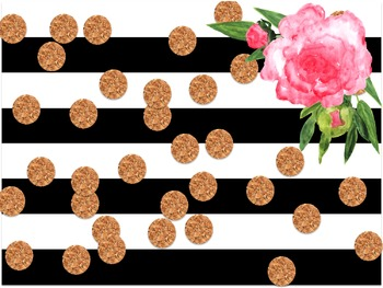 Black&White Striped Floral Digital Paper Freebie!