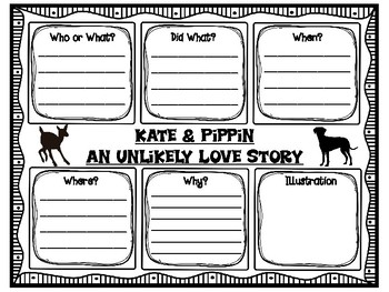 Kate and Pippin Main Idea and Supporting Details Jigsaw Puzzle Pieces