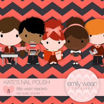 Kate's Nail Polish - Little Readers Clip Art