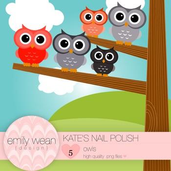 Kate's Nail Polish - Owl Clip Art