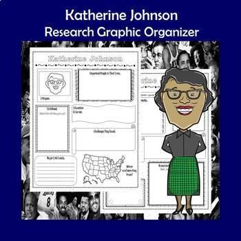 Katherine Johnson Biography Research Graphic Organizer