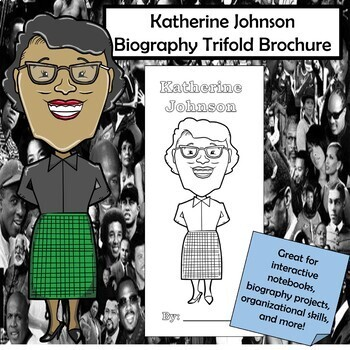 Katherine Johnson Biography Trifold Brochure