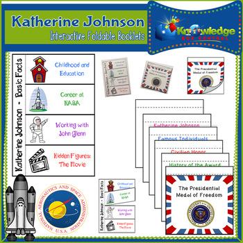 Katherine Johnson Interactive Foldable Booklets - Hidden Figures - Black History