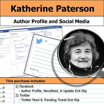 Katherine Paterson - Author Study - Profile and Social Media