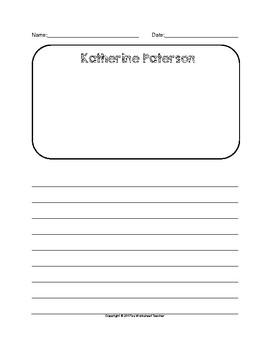 Katherine Paterson Writing Paper Set