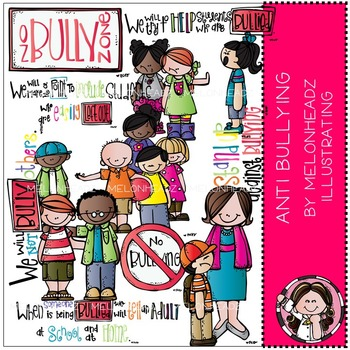 Anti Bullying clip art - COMBO PACK - by Melonheadz