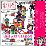 Melonheadz: Anti Bullying clip art - LINE ART