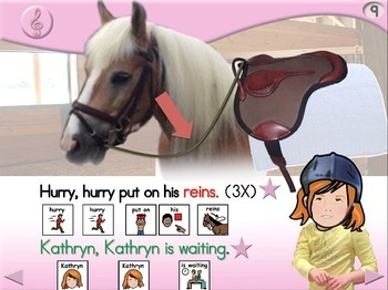 Kathryn Goes Riding - Animated Step-by-Step Song - PCS