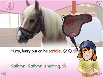 Kathryn Goes Riding - Animated Step-by-Step Song - Regular
