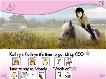 Kathryn Goes Riding - Animated Step-by-Step Song - SymbolStix