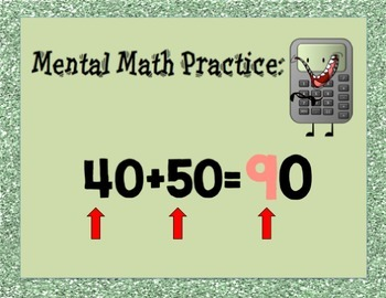 Estimating Sums to 99 PowerPoint