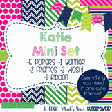Digital Paper and Frame Mini Set Katie