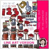 Take me out clip art - Baseball - LINE ART - by Melonheadz
