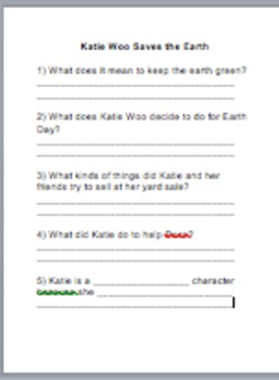 Katie Woo Boss of the World Comprehension Questions