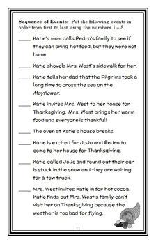 Katie Woo: Katie Saves Thanksgiving (Fran Manushkin) Novel Study / Comprehension