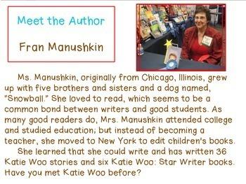 Katie Woo No More Teasing Literary Book Unit on Promethian Board