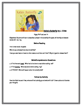 Katie's Butterfly for Guided Reading (Rigby PM Plus, Level 14)