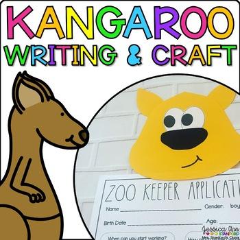 Katie the Kangaroo {Animal Craftivity and Writing Prompts!}