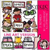 5 senses clip art - LINE ART- Melonheadz clipart