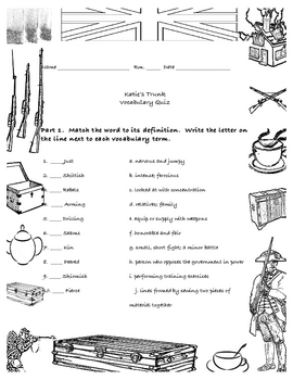 Katie's Trunk Vocabulary Quiz